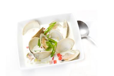Presentación del plato con salsa y cuchara