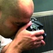 El fotografo Quique Rico realizando su trabajo para Boreas