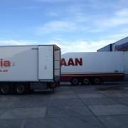 envío de producto a cliente en camión climatizado