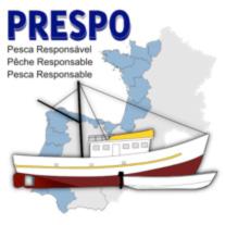 Logotipo de PRESPO de pesaca responsable en 3 idiomas