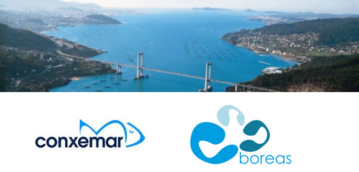 Panorámica de Vigo con los logotipos de Conxemar y Boreas